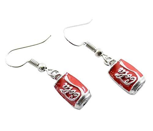 Nobranded Kreative Cola Flasche Ohrringe Mädchen Party Geschenk Special Ohrringe rot