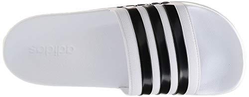 Adidas Men's Cloudfoam Adilette Adilette Flip Flops,White (Footwear White/core Black/footwear White),10 UK/44.5 EU