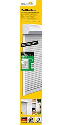 Schellenberg 20083 SB-Rollladen für Balkontüren. Terrassentüren, 100 x 210 cm, 45°, weiß/grau