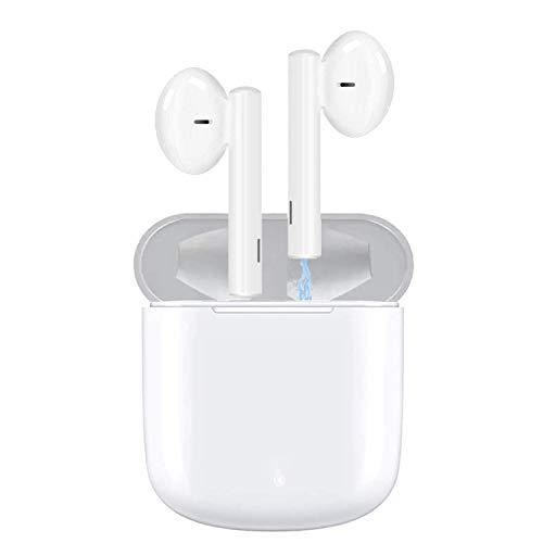 ASENTER Auriculares inalámbricos Bluetooth 5.0,Control táctil, IPX5 reducción del Ruido estéreo 3D HD, con micrófono y Estuche de Carga portátil para Todos Bluetooth de Android/iPhone/Samsung