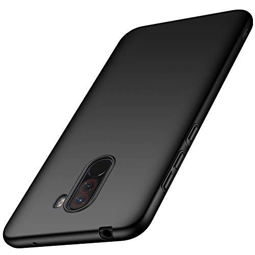 XINKO Xiaomi Pocophone F1 Cover, PC Cover, Anti-graffio, Ultra Leggere e Sottile, Corazza Dura,Assorbimento degli Urti, per Xiaomi Pocophone F1 (Nero)