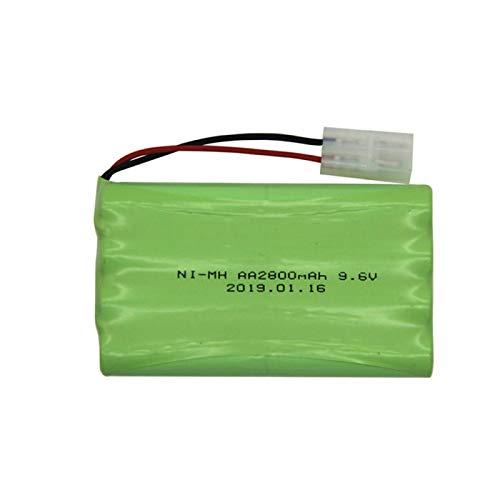 Batería Ni-Mh De 9,6 v 2800 Mah con Cargador De 9,6 v para Coche De Juguete RC Tren Barco Nimh AA 2400 Mah 9,6 v Batería Recargable Blue