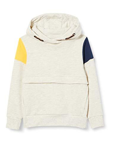 TOM TAILOR Baby-Jungen Sweatshirt T-Shirt, Off White Melange White, 116/122