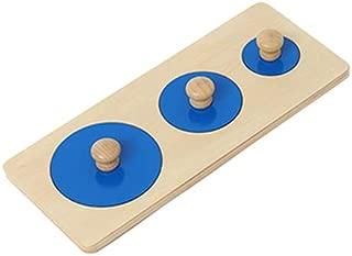 New Sky Enterprises Montessori Geometric Puzzle Board Knobbed Geoboard Big Size Shape Match Game Geography Puzzle Sensory Material (Style B)
