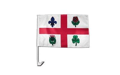Flaggenfritze Autofahne Autoflagge Kanada Montreal - 30 x 40 cm