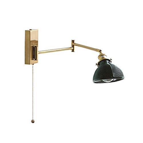 FEE-ZC Tradicional con Interruptor Luces de Pared Vine Loft Brazo oscilante Doble Soporte de luz de Lectura de Pared Brazo oscilante Lámpara de Pared Ajustable Aplique de