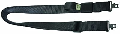 Outdoor Connection Super Sling 2 with Talon Swivels, 1 1/4-Inch, Black