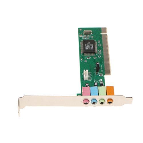 Sharplace Hauptplatine PCI-Soundkarte.-Kanal-Sound-Ausgang und Mikrofon Line-Audio-Eingang über 3,5-mm-Mini-Buchsen