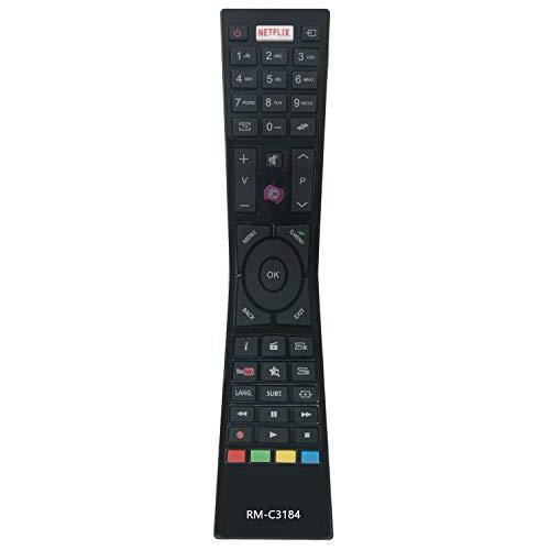 VINABTY RM-C3184 - Telecomando di ricambio compatibile con TV JVC LT-43VF53A LT-43VU72A LT-32VH53J LT-55VU72K LT-55VU72A LT-48VF52K LT49VU63I LT-65VU20I