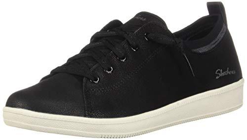 Skechers Madison Ave-City Ways, Zapatillas Mujer, Negro (BKW Black Microleather/Off White Trim), 37 EU