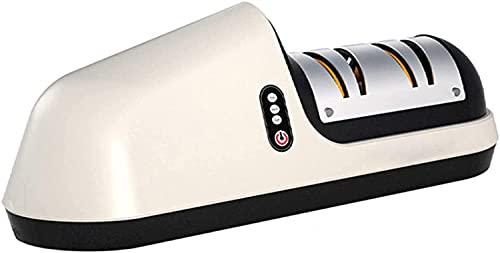 KELITINAus Afilador de Cuchillos Eléctrico Multifuncional, Base Antideslizante Y Diseño Ergonómico con la Elección Del Hogar Y Del Chef