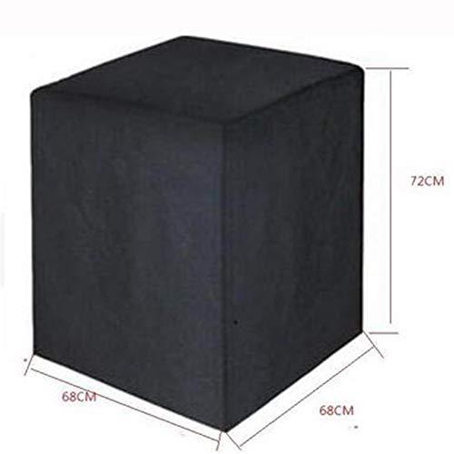 RUANMU Couvercle De Protection Couverture De Meubles, Noir Tissu Oxford Couverture De Barbecue, Imperméable/Crème Solaire (68 * 68 * 72Cm)