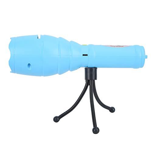 Proyector de Linterna, proyector LED, Funcionamiento con un Solo botón, luz del proyector para Halloween, Navidad, Varios Festivales, Club, Banquete, reunión Familiar(Azul)