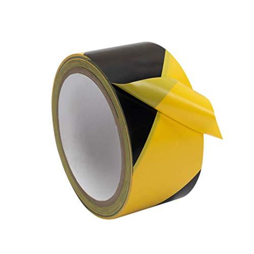 PVC Absperrband   Warnband   Bodenmarkierungsband   Sicherheitsband   Wasserdicht   50mm x 33M   1 Rolle