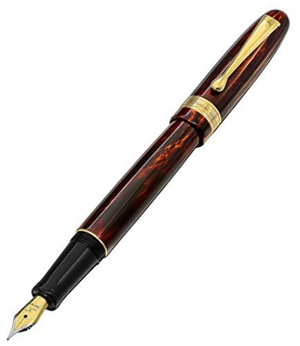 Xezo Phantom penna stilografica. Edizione limitata di 500. Numerati. Cappuccio a vite. 18-karat placcato oro. Triplo strato di rivestimento traslucido