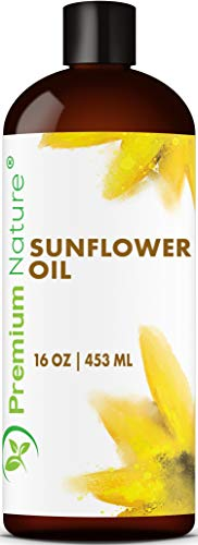 Price comparison product image Sunflower Oil Cold Pressed - Sunflower Seed Oil Unrefined Sun Flower Oil Face Hair Skin Sunflower Essential Oil Pure Unrefined Sunflower Oil for Massage Oil Sunflower Vitamin E Oil