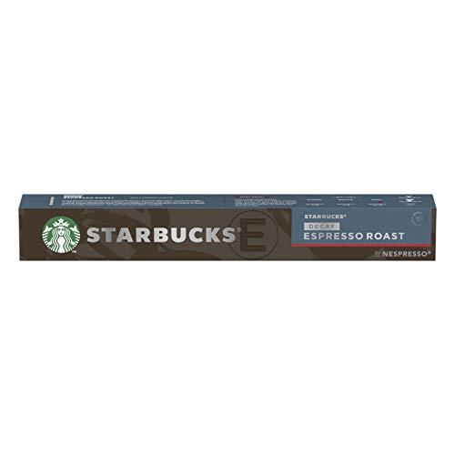 Starbucks Nespresso - Cápsulas Monodosis - Starbucks Espresso Roast Decaf, 10 Cápsulas, Compatibles Con Nespresso