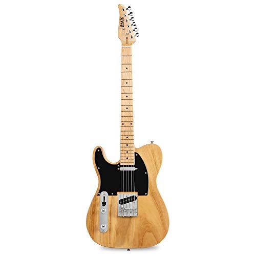 "LyxPro 39"" Electric Telecaster Left Hand Guitar | Full-Size Paulownia Wood Body, 3-Ply Pickguard, C-Shape Neck, Ashtray Bridge, Quality Gear Tuners, 3-Way Switch & Volume/Tone Controls | 2 Picks"