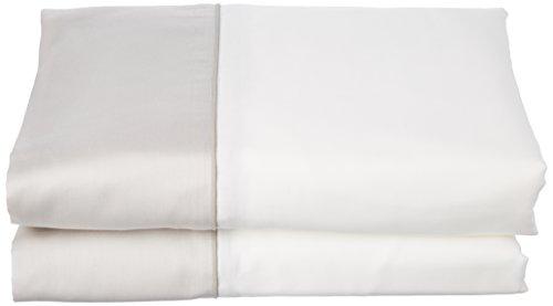 ESSIX Drap de lit, Satin de Coton, Pannacotta/Galet, 270x300 cm