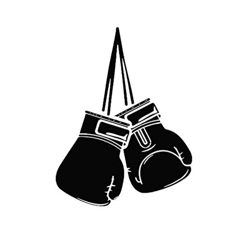 Auto-Aufkleber, Boxhandschuhe, Muster, Styling, Auto, LKW, Persönlichkeit, Aufkleber, Dekoration, Schwarz