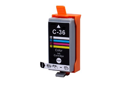 2 Pack Compatible Canon CLI-36 2 Tri Color for use with Canon PIXMA iP100l, PIXMA mini260, PIXMA mini320, RFB IP100. Ink Cartridges for inkjet printers. CLI-36-C / 1511B002 Blake Printing Supply Photo #2