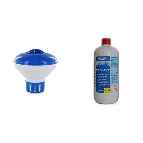 Steinbach Despenser nuotatore Mini cloro dosaggio di 20 g di compresse, più colori & New Plast 3002 - Correttore di pH Minus per Acqua Piscina, Flacone 1 lt