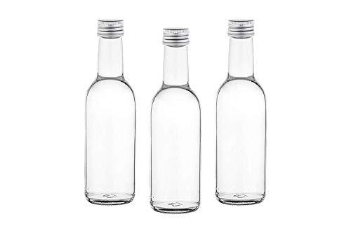 casavetro Claro Tornillo Superior Botellas de Vidrio vacías 250 ml - Tapas giratorias Recargables Reutilizables - Tapa de Metal Ajustada al Aire para Kombucha Home Brewing Gin Aceite (12 x 250 ml)