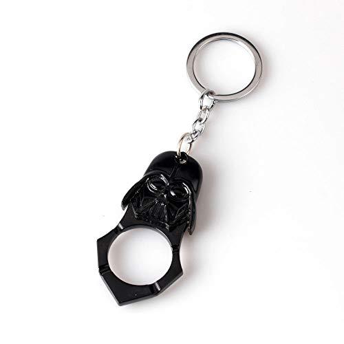 LYX Personalità creativa apri della birra, World Of Warcraft lega di zinco Keychain, regalo degli uomini Fun (Color : Black)