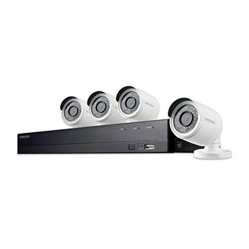 Samsung SDH-B74041 8 Channel 1080p HD 1TB Security Camera System with 4 Outdoor BNC Bullet Cameras SDC-9443BC (Renewed)