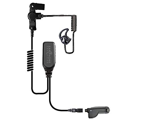 Ear Phone Connection Hawk Lapel Mic with Quick Release Adapter for Motorola APX6000 APX7000 XPR Radio (Black Tube)