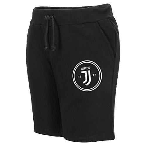 Juventus Bermuda in Felpa di Cotone con Logo Bianco - Uomo Collezione 2020/2021-100% Originali - 100% Prodotto Ufficiale - Scegli la Taglia (Taglia XL)