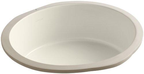 Kohler K-2883-47 Verticyl Unterbau-Waschtisch, rund, Mandelfarben