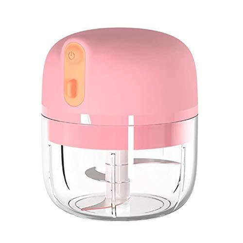 cottonlilac Machine électrique portative de purée d'ail Mini Hachoir à l'ail USB de Charge pour Les légumes à l'ail Fruits écrou Petit Robot culinaire-Rose
