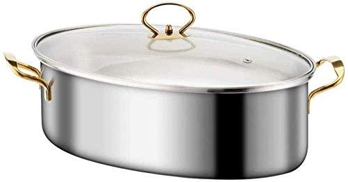 Vaporizador de pescado, olla de acero inoxidable con forma elíptica, especial para cocina de inducción, clip anti escaldado, rejilla para bandeja de vapor, bandeja para olla al vapor