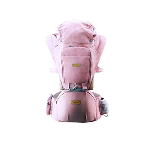 WPHH Portabebé Ergonómico con Asiento Convertible 3 En 1 Portador De Bebé para Bebés Travel De 0-36 Meses,Rosado