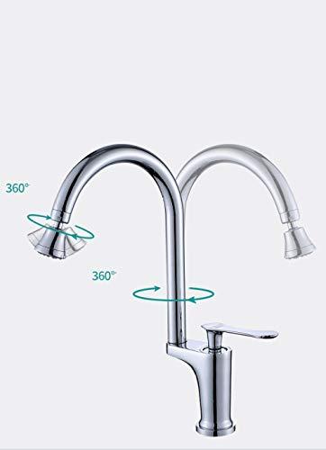 Neuer Stil Duschkopf Küchenarmatur heißes und kaltes Wasser Dual-Use-Multifunktions-Druck-Gemüsebecken Wasserhahn zu Hause Badezimmer Toilette