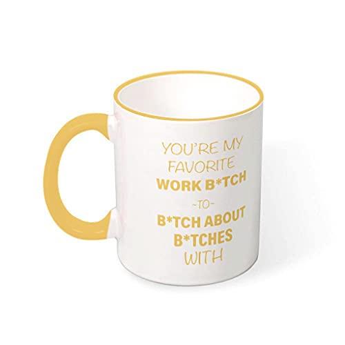 wbinshey Taza de cerámica con diseño de texto en inglés 'You Are My Favorite Mug Cute Painting Vajilla de cerámica para lavavajillas con capacidad de 330 ml