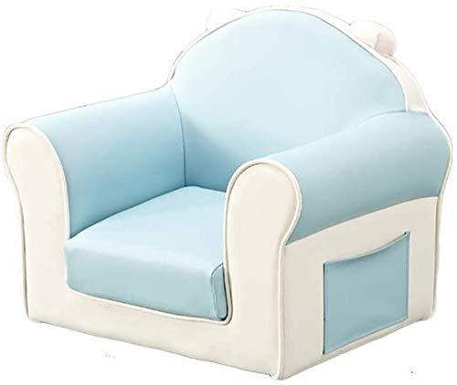 Ledersofa Kinder Cartoon niedliches Baby Arm des Sofas, Prinzessin zurück Sofa kreative Junge Mädchen, blau,Blue