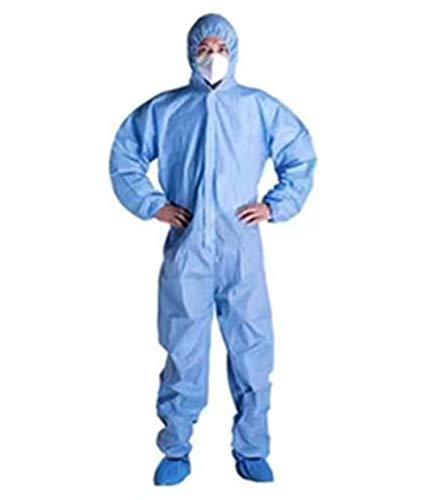 Overall Wegwerp Antibacterieel Isolatiepak Voorkom invasie van voor personeel Beschermende kleding Stofdichte overall Antistatische regenjas,XXL