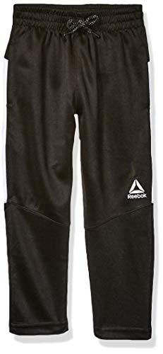 Reebok Boys' Little Athletic Pant, Mesh Piecing Black, 4
