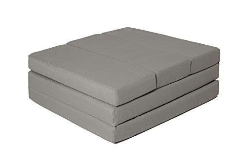 ZOLLNER® Cómodo colchón Plegable/Cama para Invitados/colchón supletorio/colchoneta Plegable, 65x220 cm, Gris Antracita,...