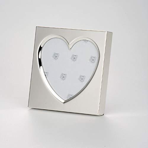 Dekolust Bilderrahmen Herz Silber Metall 11cm