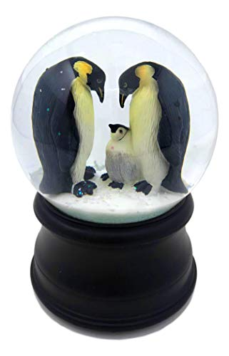 The San Francisco Music Box Company Penguin with Chick Snow Globe