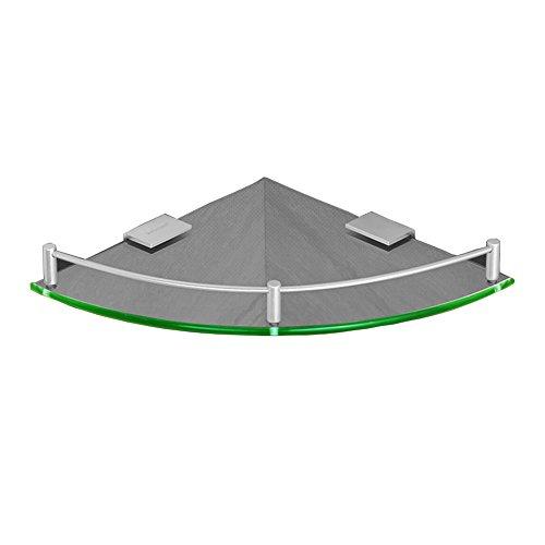 WYYY Etagère Tablette Porte-Serviettes Rack Pas Besoin De Punch Mur Salle De Bain Aluminium Space Coin Triangle Monocouche Verre
