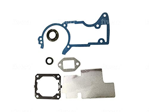 EngineRun MS440 11280071050 6 Pcs Gasket Set with Oil Seal for Stihl 044 MS 440 Chainsaws 1128-007-1050