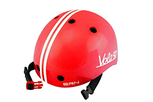 Vola 50 Brn, Casco Bicicleta para Bebe XXS 44-48 cm, 170gr (Rojo, XXS 44-48cm)