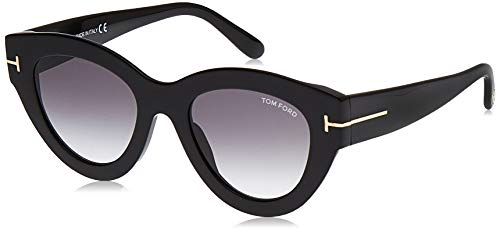 Tom Ford Gafas de Sol SLATER FT 0658 Black/Grey Shaded 51/21/140 mujer