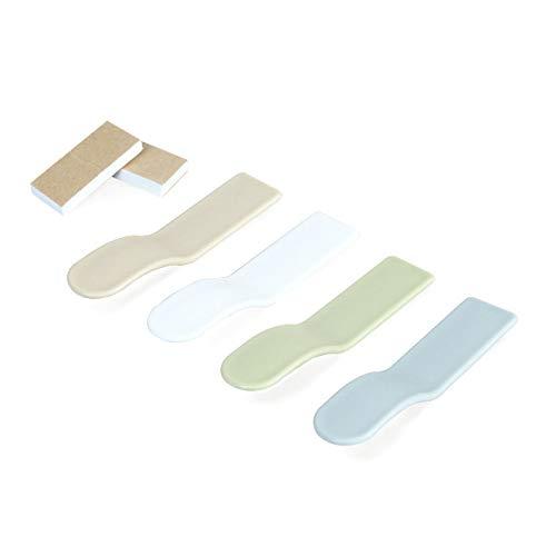 BGH ER-NMBGH Self Adhesive Toilettendeckel Lifter, Toilettensitz Griff Sitzabdeckung Lifter vermeiden, berühren Hygiene, Toilettensitz Griff Lifter (4pack)