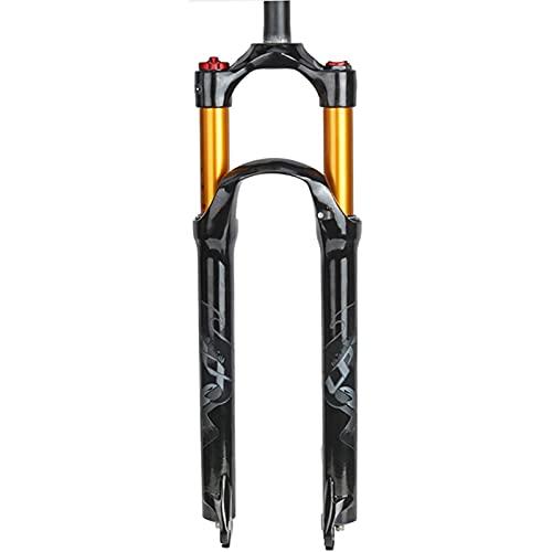 Horquilla de Suspensión para Bicicleta de Montaña de 26', 1-1/8 'aleación de Magnesio Ligero MTB Bicicleta Control de Hombro de Horquilla de Acelerador 100 Mm,Black