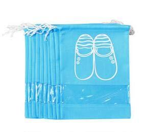 Best Quality - Storage Bags - 10pcs/pack shoes storage bags drawstring laundry bag travel home organization nonwovens conveniently shoes bags blue 35.5x27cm - by Melissa - 1 PCs